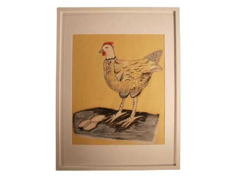 T10 Te koop Teken schilder De kip of het ei