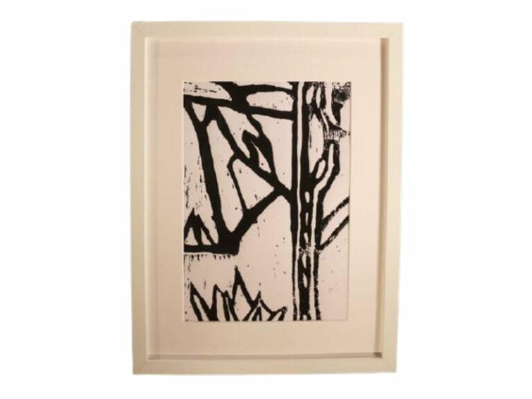 T15 Te koop Teken schilder Zwarte sneeuw