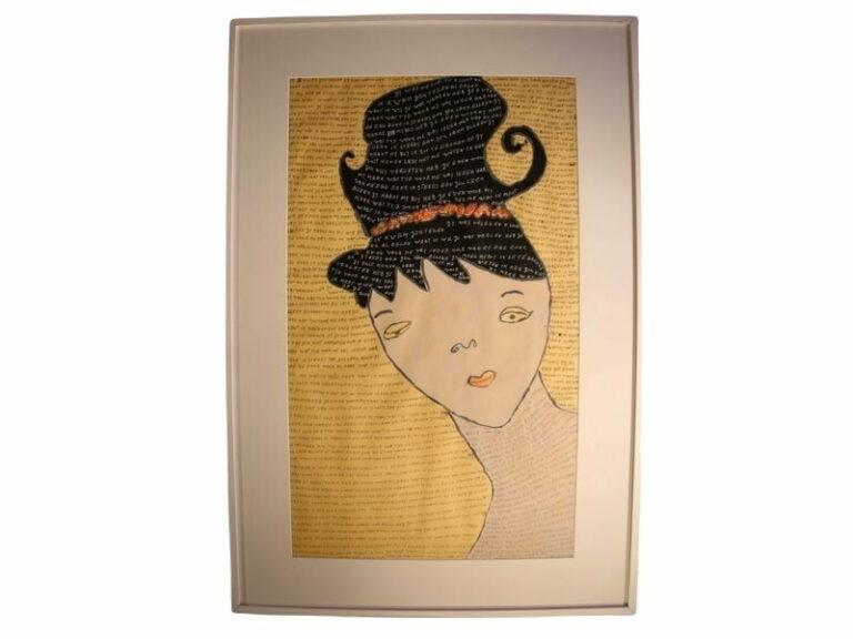 T2 Te koop Teken schilder Vrouw met opvallend kapsel
