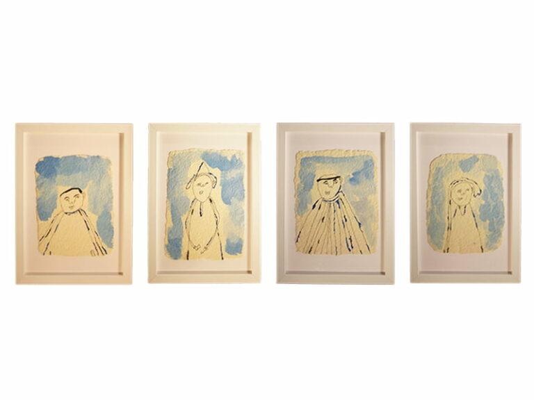 T4 Te koop Teken schilder 4 op een rij