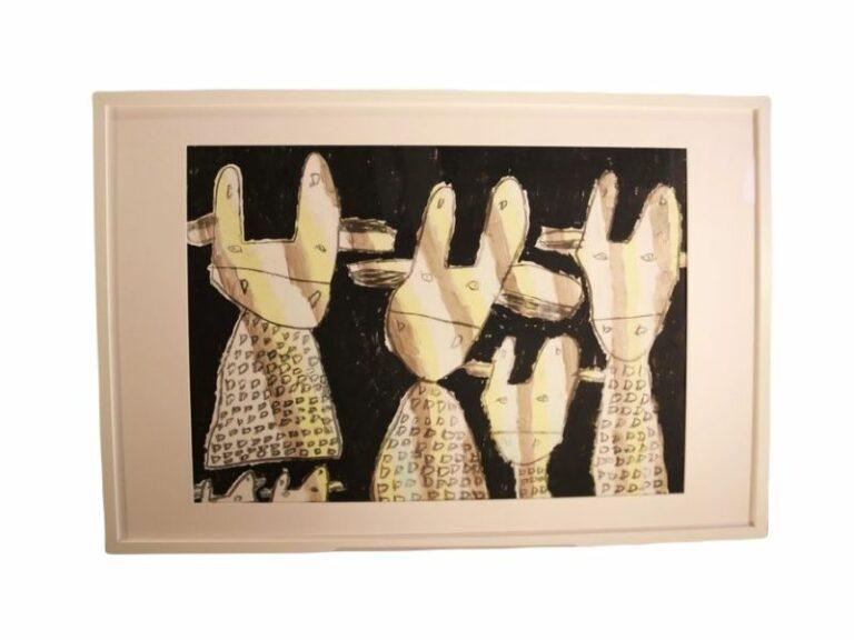 T5 Te koop Teken schilder Gestreepte giraffen