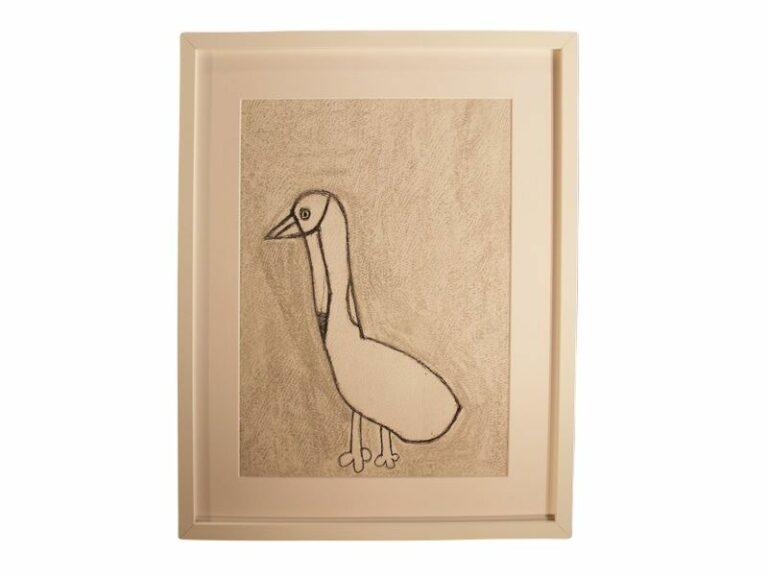 T8 Te koop Teken schilder Eenzame eend